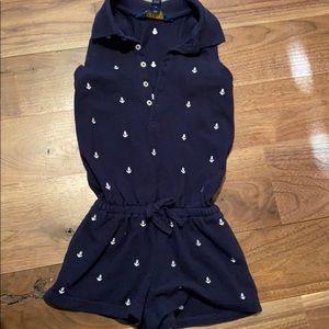 RL polo anchor shorts romper